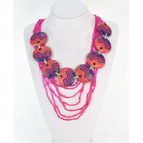 Necklace Necklace Wood decoration on wire beads 58664