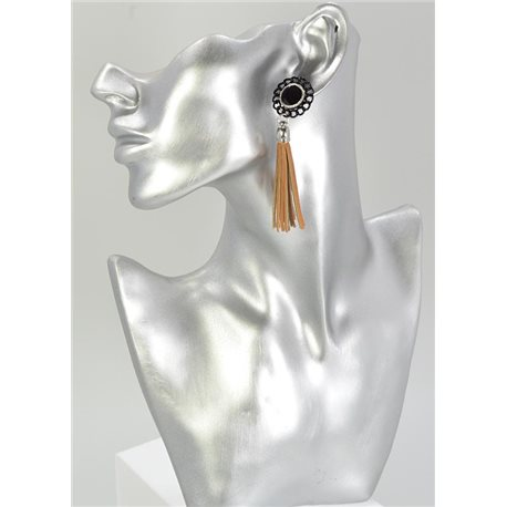 1p Boucles Oreilles Strass Collection Cuir 68066