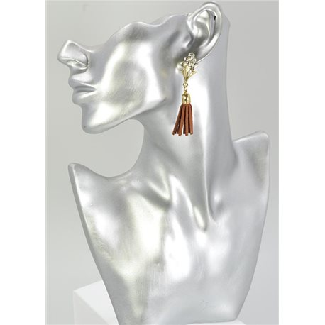 1p Boucles Oreilles Strass Collection Cuir 68070