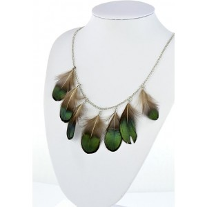 Collection Fashion Feather Necklace on chain L60cm 64704