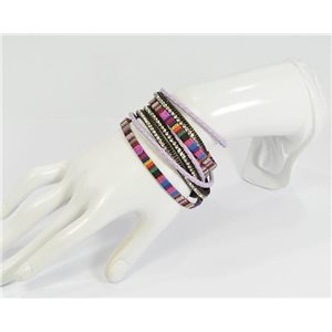 Rhinestone Bracelet twisted magnetic clasp New Multi Row Effect Collection 68289