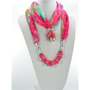 Scarf Necklace Jewelry Polyester Spring Summer Collection 2016 68442