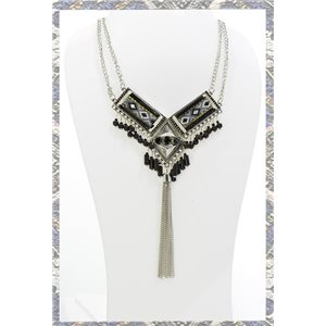 ATHENA silver metal necklace Ethnic Fashion Collection 2016 68407