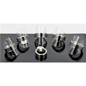 6 Man Rings Stainless Steel Anti Stress 6 sizes (56 to 73) New Design 68661
