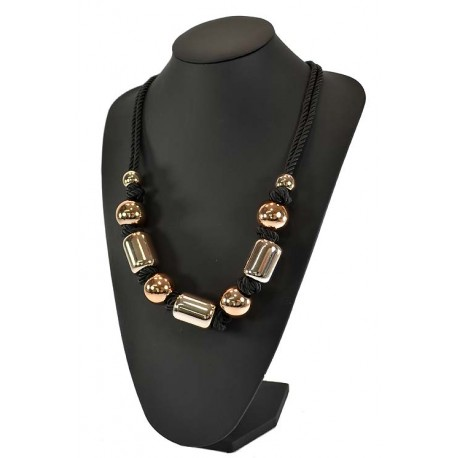 Imitation gold metal chain necklace L70cm 59275