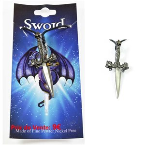 pewter pendant cord Collection Sword 68103