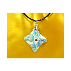Necklace pendant with his pate Polymer New Spring Collection 65725