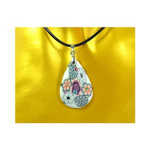 Necklace pendant with his pate Polymer New Spring Collection 65730