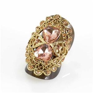 Bague Strass réglable Full Strass GOLD Vintage Collection 67606