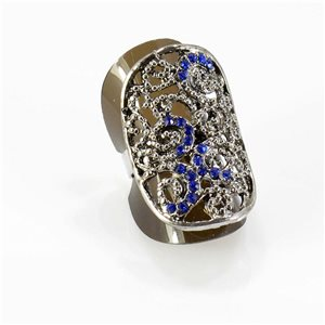 Bague Strass réglable Full Strass SILVER Vintage Collection 67754