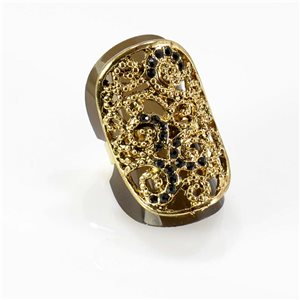 Bague Strass réglable Full Strass GOLD Vintage Collection 67755