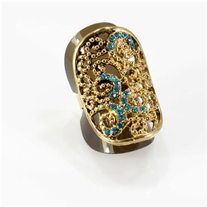 Bague Strass réglable Full Strass GOLD Vintage Collection 67761
