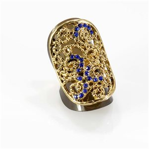 Bague Strass réglable Full Strass GOLD Vintage Collection 67763