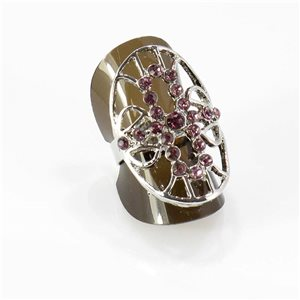 Bague Strass réglable Full Strass SILVER Vintage Collection 67769