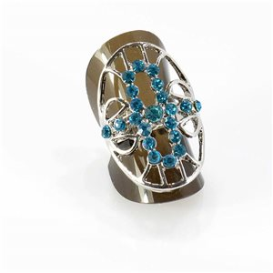 Bague Strass réglable Full Strass SILVER Vintage Collection 67770