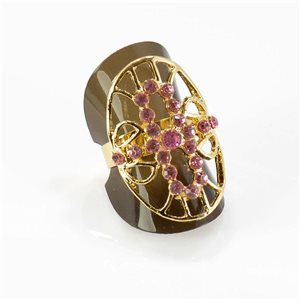 Bague Strass réglable Full Strass GOLD Vintage Collection 67776