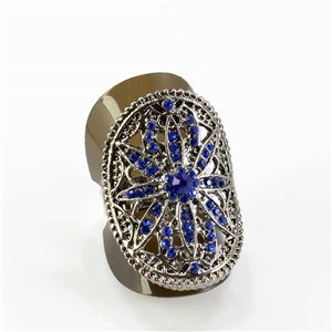 Bague Strass réglable Full Strass SILVER Vintage Collection 67826
