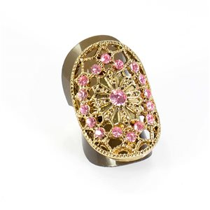 Bague Strass réglable Full Strass GOLD Vintage Collection 67866