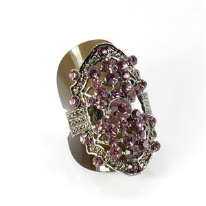Bague Strass réglable Full Strass SILVER Vintage Collection 67895