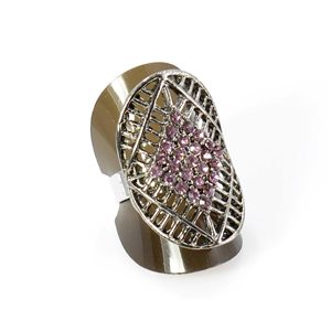 Bague Strass réglable Full Strass SILVER Vintage Collection 67931