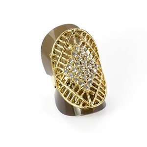 Bague Strass réglable Full Strass GOLD Vintage Collection 67936
