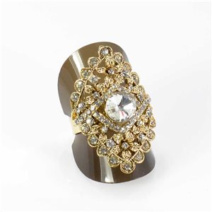 Bague Strass réglable Full Strass GOLD Vintage Collection 67954