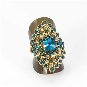 Adjustable Rhinestone Ring Full Rhinestone GOLD Vintage Collection 67957