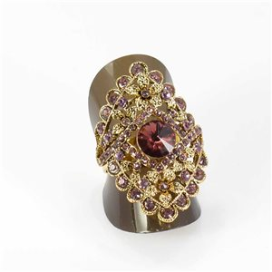 Adjustable Rhinestone Ring Full Rhinestone GOLD Vintage Collection 67958