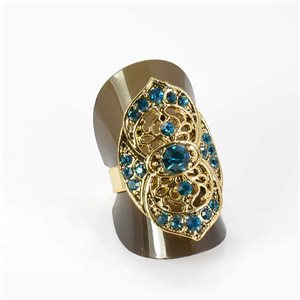Adjustable Rhinestone Ring Full Rhinestone GOLD Vintage Collection 67975
