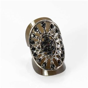 Bague Strass réglable Full Strass SILVER Vintage Collection 67980
