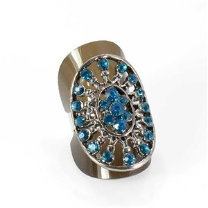 Bague Strass réglable Full Strass SILVER Vintage Collection 67984
