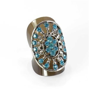 Bague Strass réglable Full Strass SILVER Vintage Collection 67986