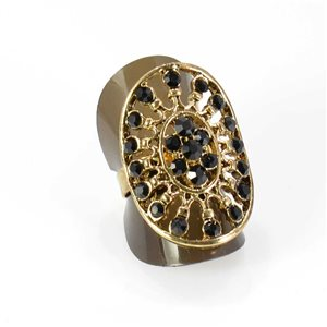 Bague Strass réglable Full Strass GOLD Vintage Collection 67989