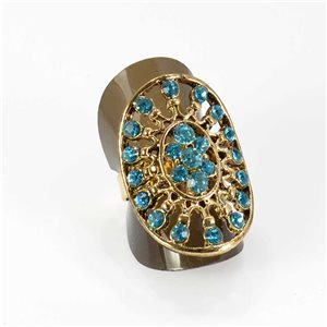 Adjustable Rhinestone Ring Full Rhinestone GOLD Vintage Collection 67995