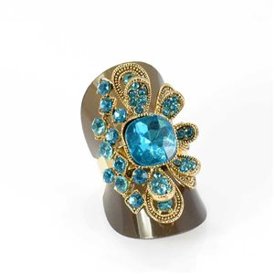 Adjustable Rhinestone Ring Full Rhinestone GOLD Vintage Collection 68013