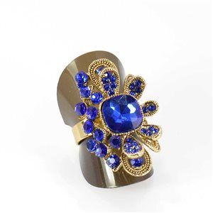 Adjustable Rhinestone Ring Full Rhinestone GOLD Vintage Collection 68015