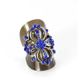 Bague Strass réglable Full Strass SILVER Vintage Collection 68024
