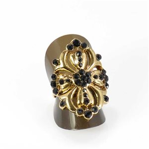 Bague Strass réglable Full Strass GOLD Vintage Collection 68025