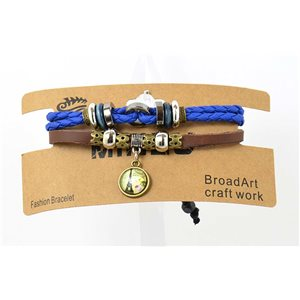 Multi Row Bracelet Leather sliding knot on New Collection 69472