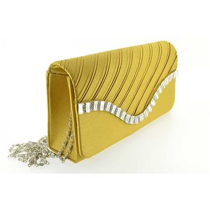luxury satin pouch for evening wedding 20 * 10cm rhinestone ornaments 70731