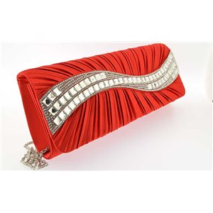 luxury satin pouch for evening wedding ornaments full 25 * 10.5cm Rhinestone 70758