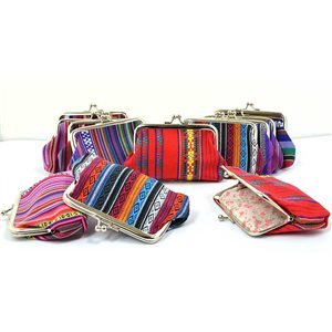 12 wallets L13cm * H9cm collection ethnic fabrics 70838