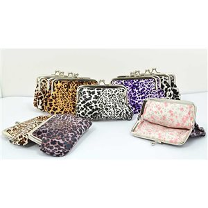 12 Portes monnaie PVC L13-H9cm Collection Panthere Leopard 70852