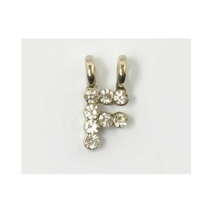 Initial Pendant full rhinestone 8mm name necklace letter f 69828