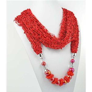 polyester scarf jewelry necklace new collection 2017 70931