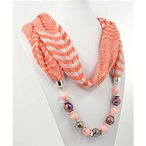 polyester scarf necklace jewelry new collection 2017 70972
