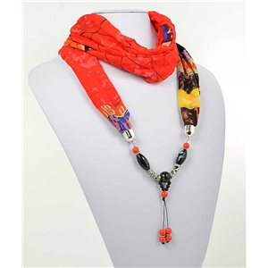 polyester scarf necklace jewelry new collection 2017 71004