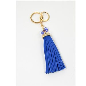 Key golden metal door set with Rhinestones leather look tassel bag Jewelry 71313