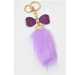 Gold metal door keys set with Rhinestones Bag Jewelry tassel fur 71310