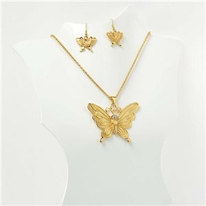 Adornment VISAGE Enamel and Rhinestones Gold Collection 2017 L45-52cm 71554
